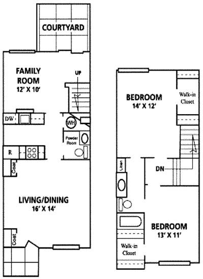1,139 sq. ft. Sonora floor plan
