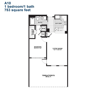 784 sq. ft. A10.2 floor plan