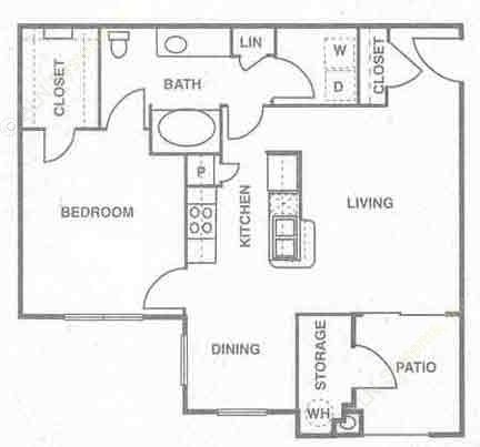 835 sq. ft. to 919 sq. ft. Saint Croix floor plan