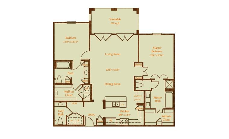 1,545 sq. ft. Vaquero floor plan
