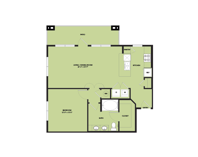 841 sq. ft. A10.1 floor plan