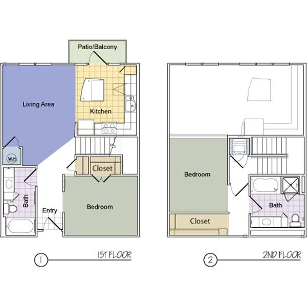 1,091 sq. ft. Lafayette (B2B) floor plan