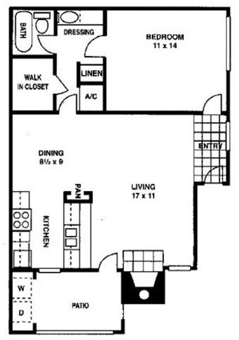 715 sq. ft. A4 floor plan