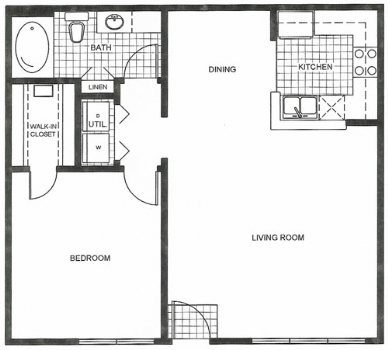 810 sq. ft. floor plan