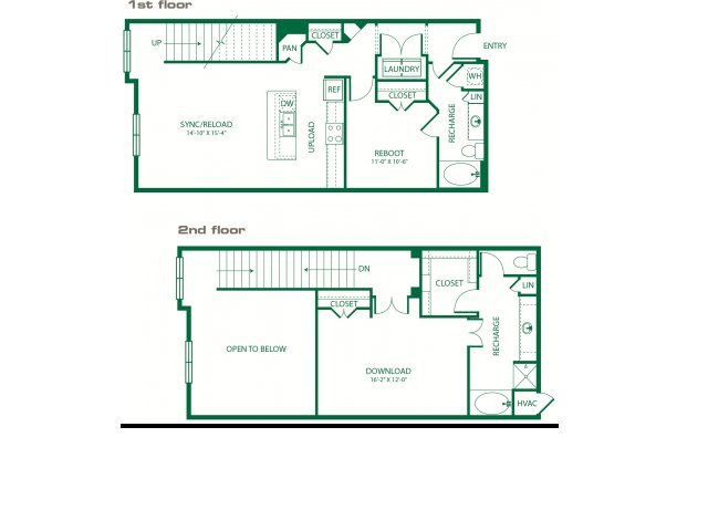 1,449 sq. ft. L2B Code floor plan