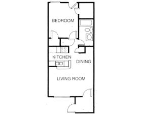 571 sq. ft. A3 floor plan
