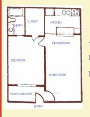 643 sq. ft. floor plan