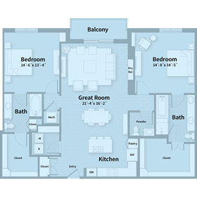 1,690 sq. ft. E3 floor plan