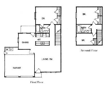 1,565 sq. ft. SINGLE HOUSE floor plan