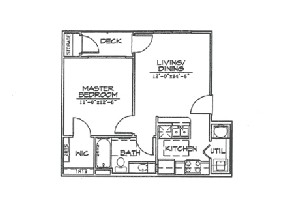 556 sq. ft. A1 floor plan