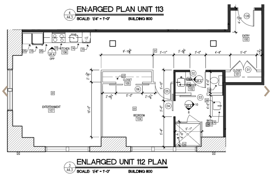 895 sq. ft. to 944 sq. ft. I floor plan