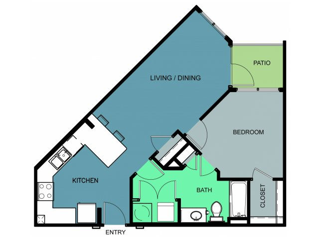 700 sq. ft. Westover floor plan