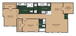 1,167 sq. ft. B-3 floor plan