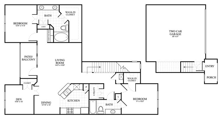 1,439 sq. ft. Binham floor plan