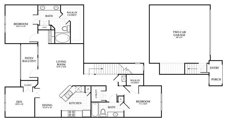 1,439 sq. ft. Binham floor plan
