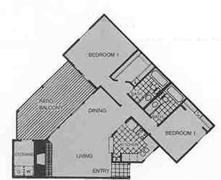 1,249 sq. ft. E floor plan