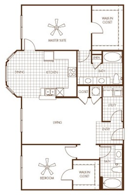 1,325 sq. ft. SOUTH HAVEN floor plan