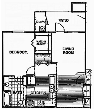 759 sq. ft. A2/60% floor plan
