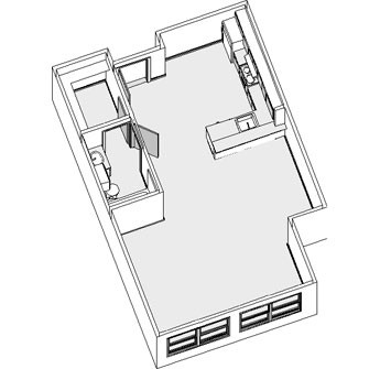 497 sq. ft. to 521 sq. ft. EFF floor plan