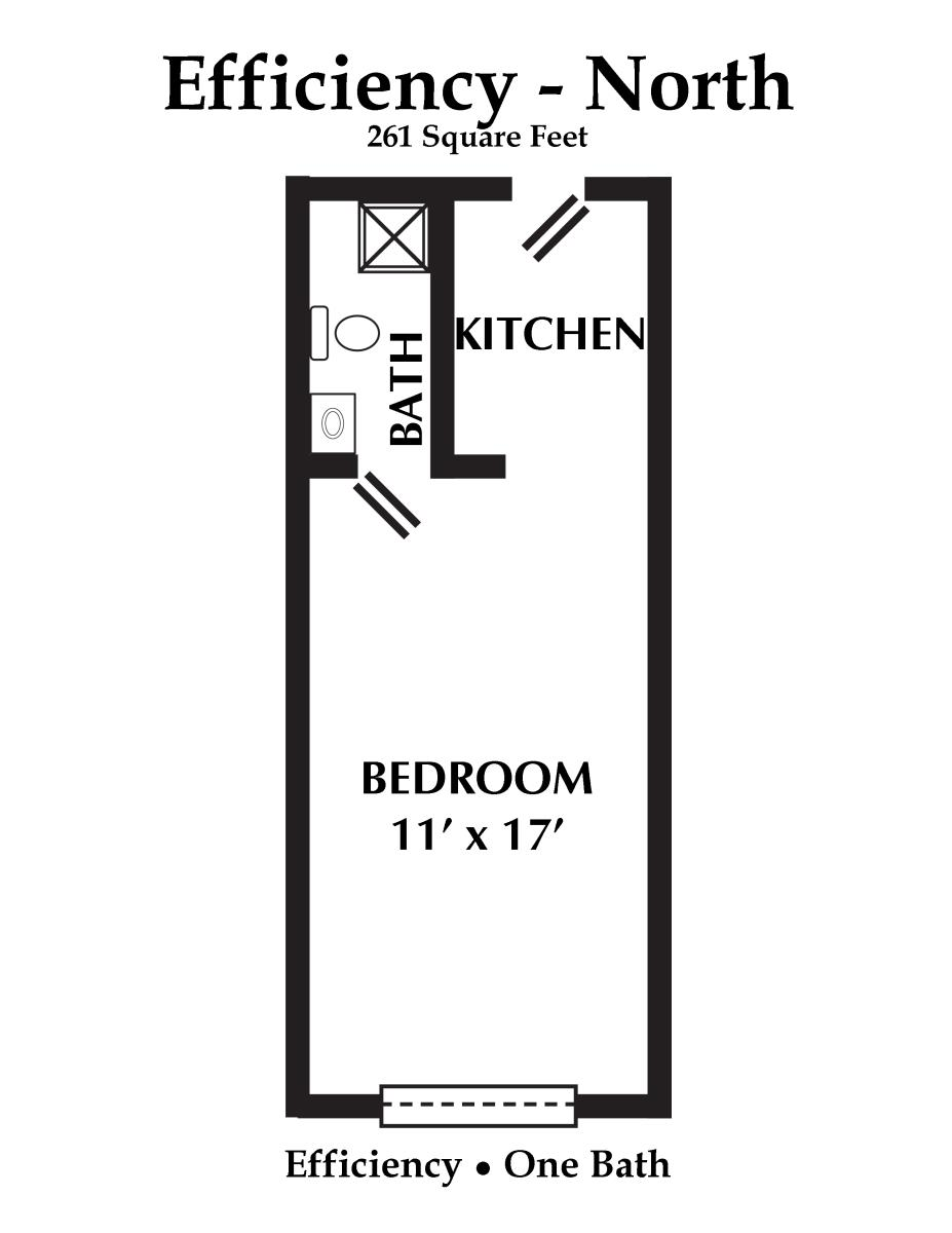 261 sq. ft. floor plan