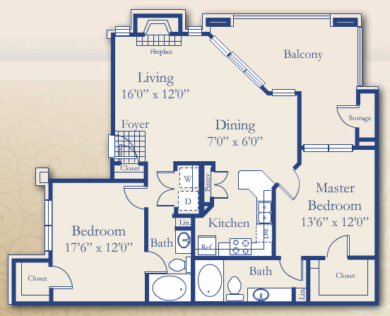1,152 sq. ft. Laurel floor plan