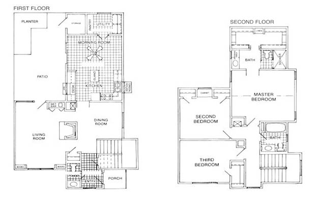 1,737 sq. ft. J floor plan