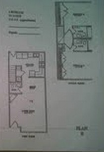 1,115 sq. ft. B floor plan