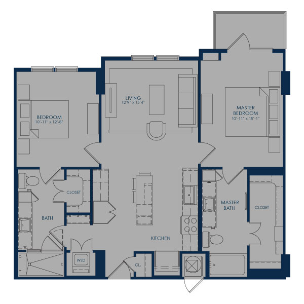 1,056 sq. ft. B36A-ALT2 floor plan