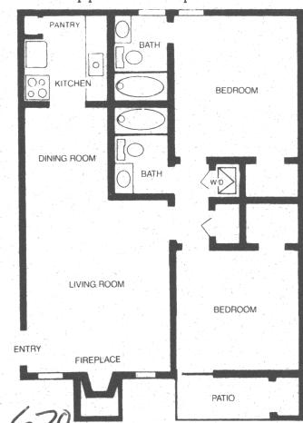 800 sq. ft. PHOENIX floor plan