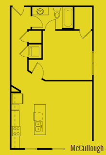 756 sq. ft. McCullough floor plan