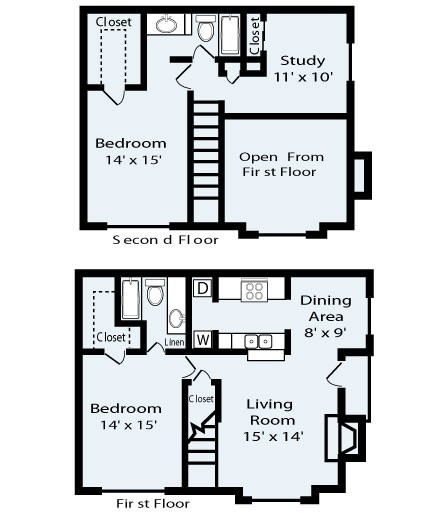 1,229 sq. ft. Vista floor plan