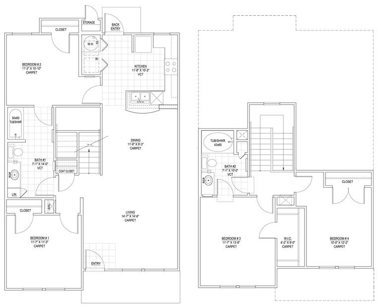 1,479 sq. ft. 60% floor plan