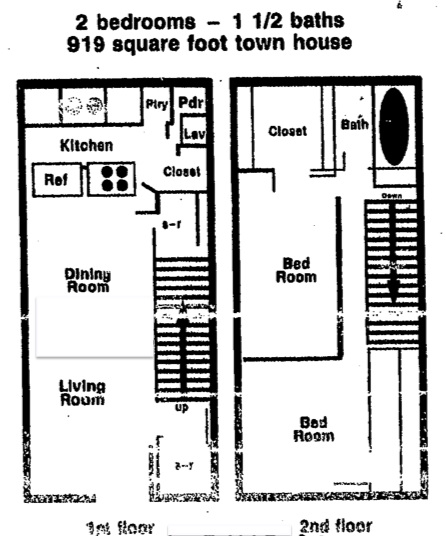 919 sq. ft. floor plan