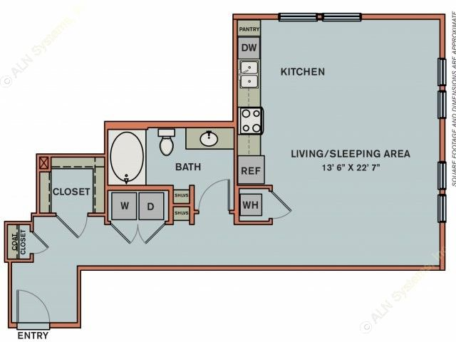 724 sq. ft. 3S2.1 floor plan