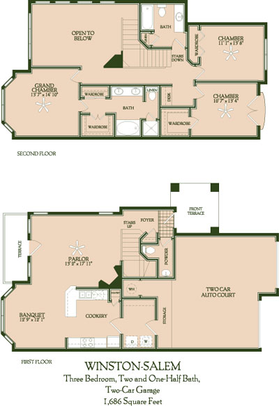 1,686 sq. ft. Winston/Salem floor plan