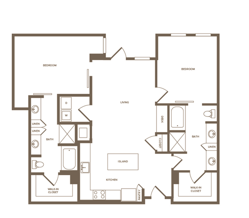 1,362 sq. ft. B8 floor plan