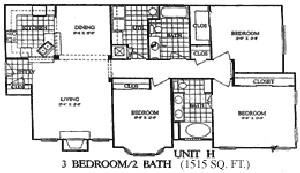 1,515 sq. ft. Ironwood floor plan