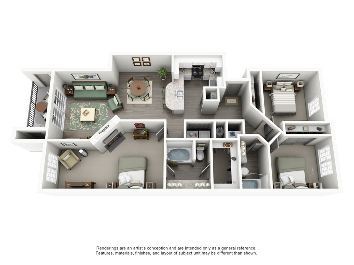 1,272 sq. ft. Mesa floor plan
