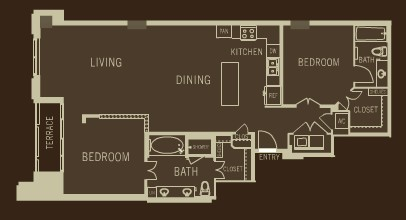 1,455 sq. ft. B1 floor plan