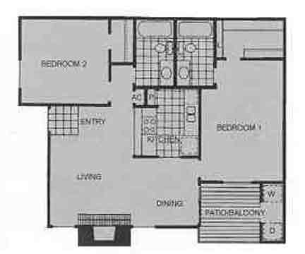 1,004 sq. ft. D floor plan