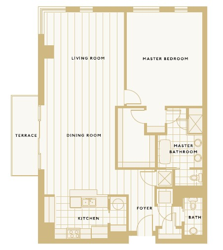 1,423 sq. ft. A floor plan
