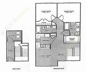 1,182 sq. ft. Oakwood/50% floor plan