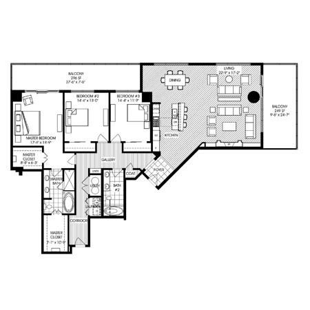 2,418 sq. ft. B1 floor plan