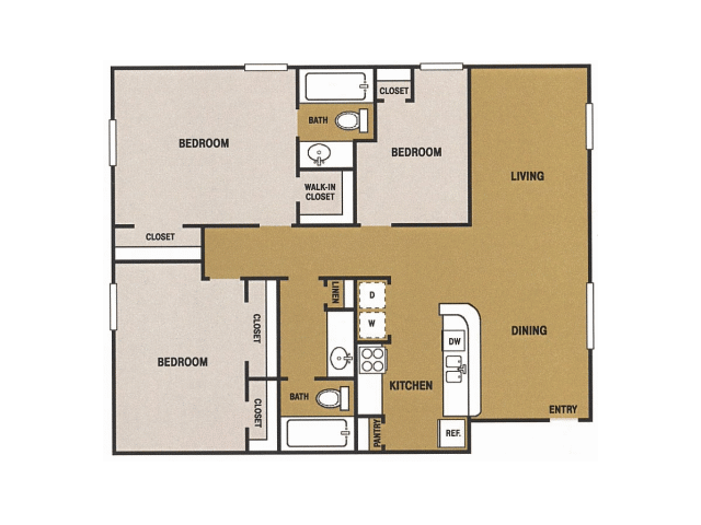 1,320 sq. ft. R floor plan