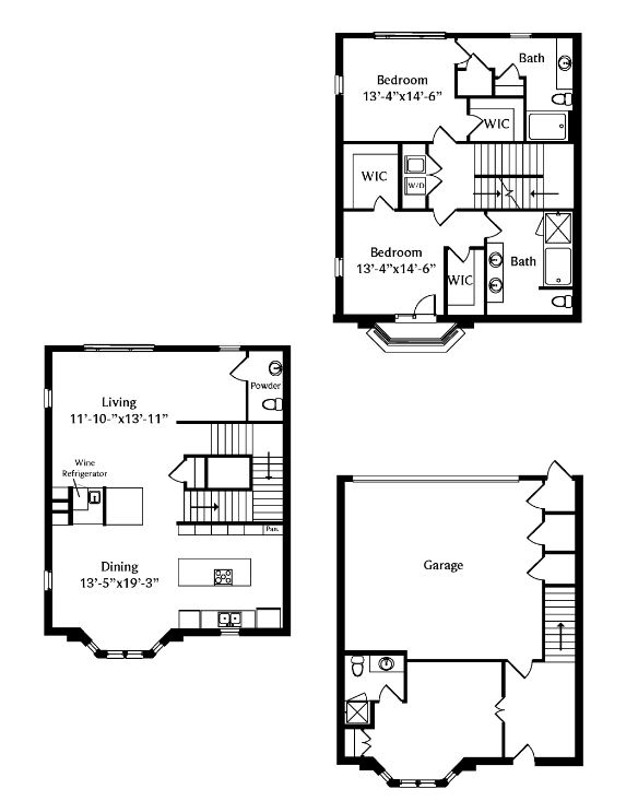 2,282 sq. ft. TH1 floor plan