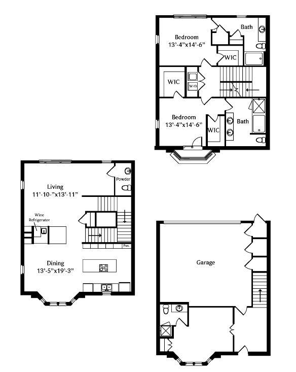 2,282 sq. ft. TH1 floor plan