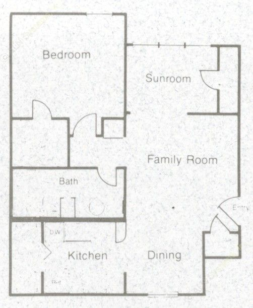 667 sq. ft. 60% floor plan