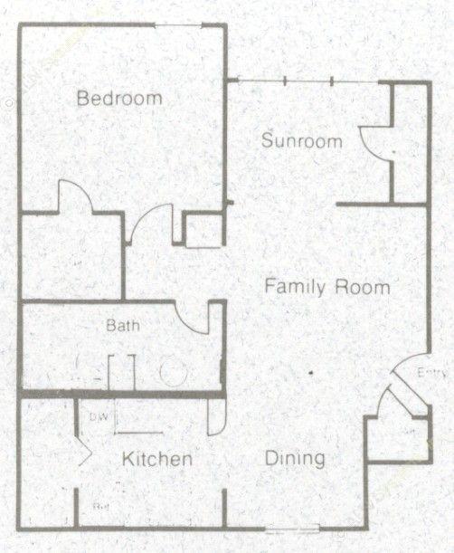 667 sq. ft. A2S floor plan
