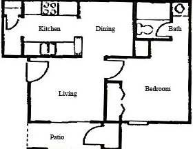 495 sq. ft. floor plan