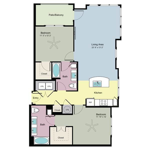 1,162 sq. ft. Explore (B2F) floor plan